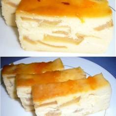 焼きりんごのベイクドチーズケーキ