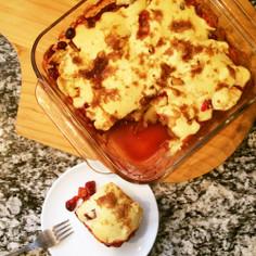 クランベリーとアップルの簡単ケーキ