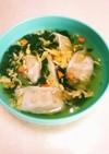 卵餃子スープ