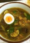 スープカレー風の雑穀スープ