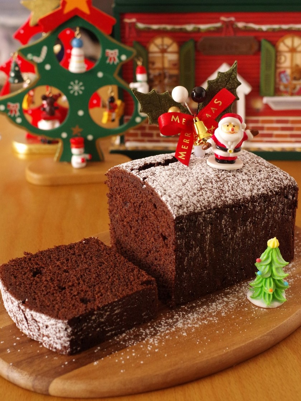 HMで超簡単クリスマスチョコレートケーキ