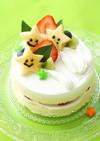 離乳食 リンゴのおほしさまケーキ