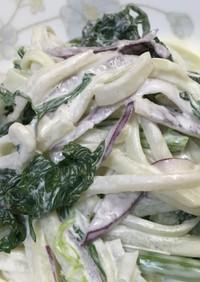 簡単‼春菊とハヤトウリのサラダ