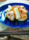白い野菜のホットサラダ★南高梅ドレで