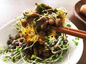 肝機能UP!納豆とブロッコリースプラウト