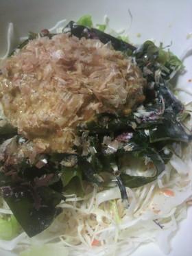 納豆と海藻のサラダ