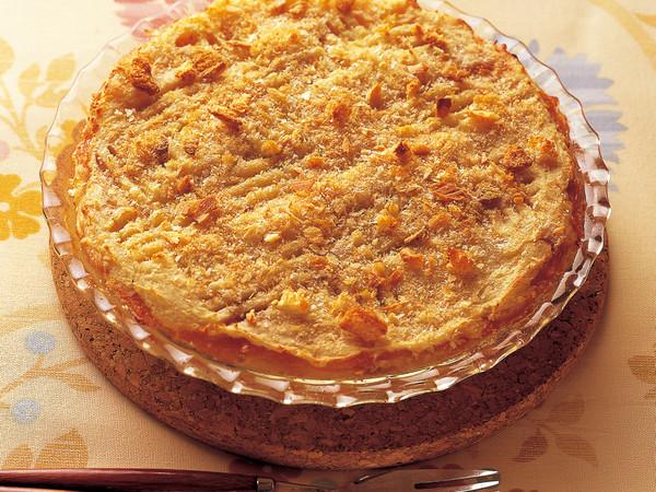マッシュポテトのりんごジャムケーキ