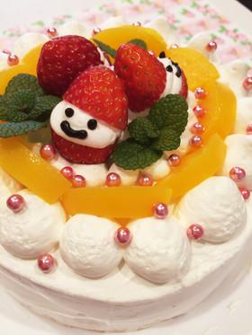 いちごサンタのクリスマスケーキ☆