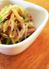 もやしときゅうりとハムの中華風サラダ