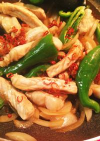ヨシダソースで豚ロースと野菜のピリ辛炒め