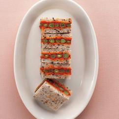 パプリカといんげんのサンドイッチ