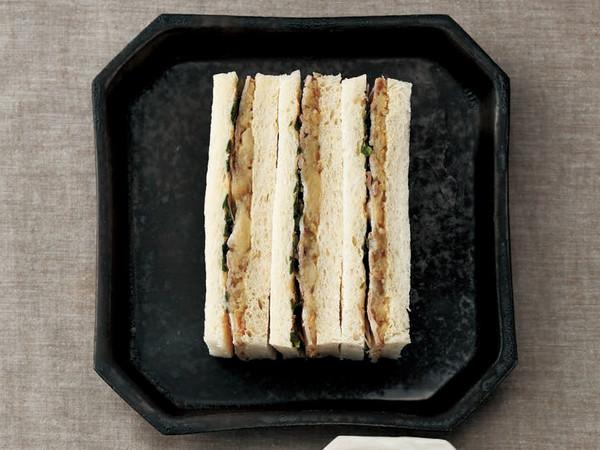 なすとポークのサンドイッチ