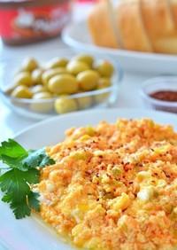 トルコの家庭料理☆ふわふわ卵のメネメン