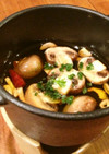ミニココット鍋で熱々アヒージョ!