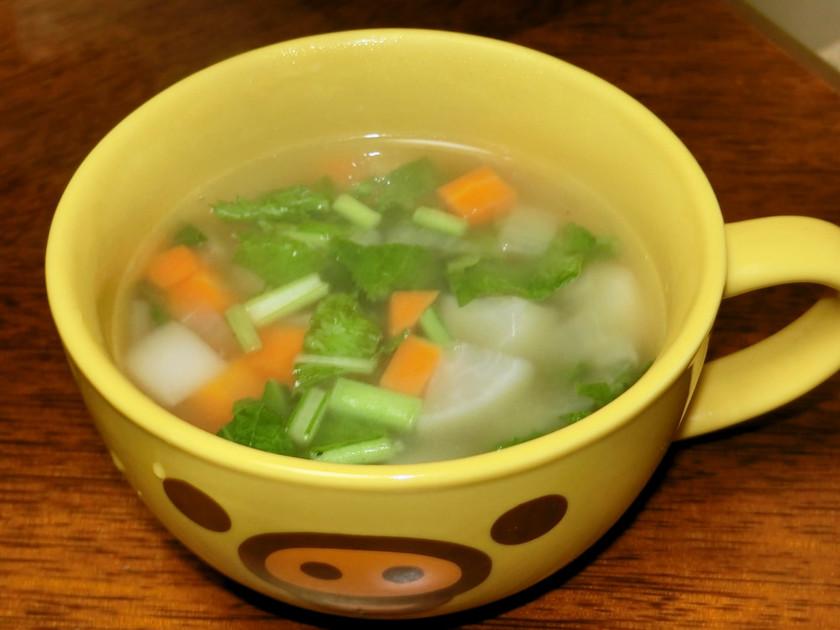 簡単!バターのほのかな香りのカブのスープ