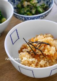 カニ風味満載な炊き込みご飯