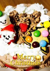 簡単クリスマスデコレーションケーキ
