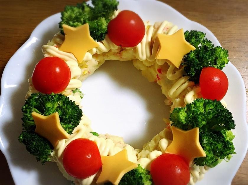 クリスマスリースポテトサラダ