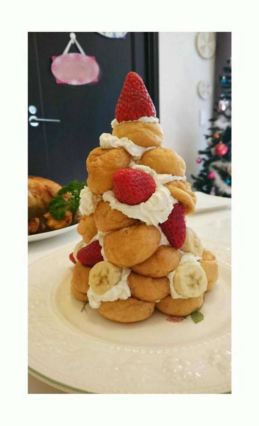 クリスマスケーキに☆簡単シューツリー