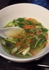 塩漬けの時に出る野菜汁を捨てないでスープ