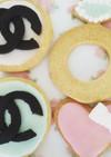 パーティ用シャネルクッキー&カップケーキ