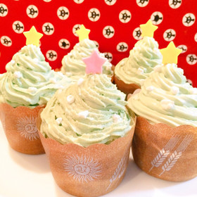 糖質制限☆クリスマスカップケーキ