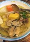 牡蠣・魚と塩漬豚肉のポトフ