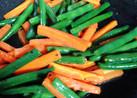 インゲン豆とニンジンの彩りグラッセ