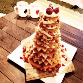 HMで簡単!クリスマスツリーケーキ♡