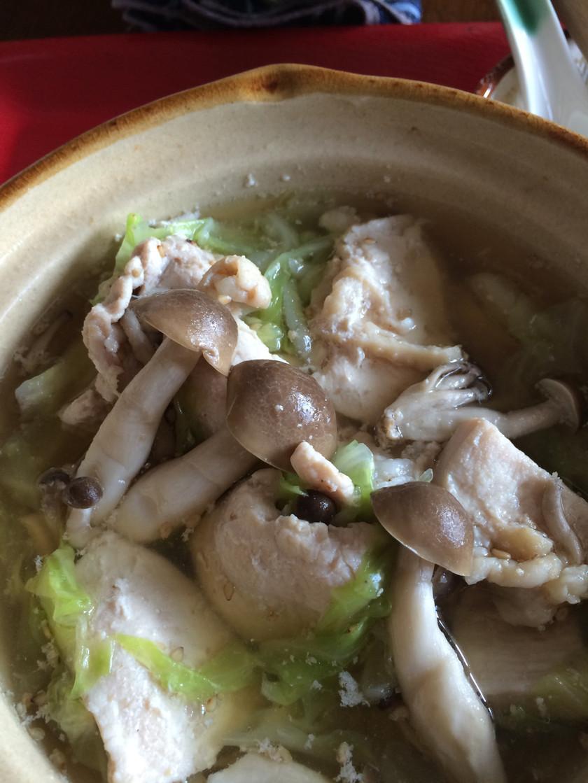 鶏むねヘルシー鍋♡ 夜食やダイエットに