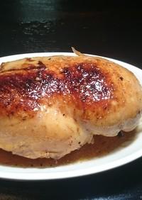 鶏ハム(むね肉)ローストチキン風照焼き