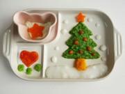 離乳食初期☆クリスマスプレート☆の写真