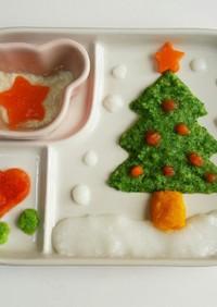 離乳食初期☆クリスマスプレート☆