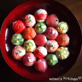 お祝いやパーティに♬可愛い手まり寿司