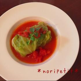 基本のロールキャベツ〜トマト煮込み