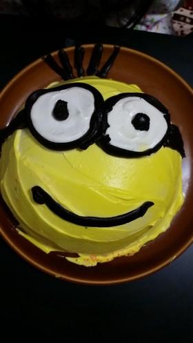 ミニオンのケビン ドーム型ケーキ♪