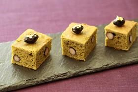 おもてなしに!大豆粉の黒豆抹茶ケーキ