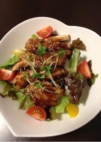 カフェ風☆鶏の照り焼き丼