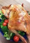 味わい深い♪丸鶏ローストチキン簡単♪