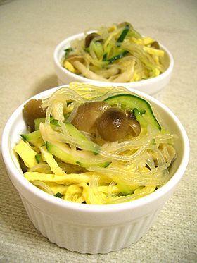 レンジで☆シメジと春雨のサラダ