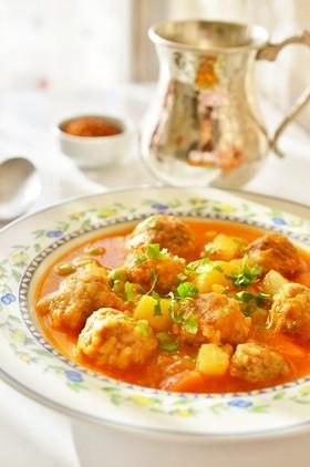 トルコの家庭料理☆煮込みキョフテ