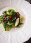 九条ねぎとドライトマトのアーリオオーリオ