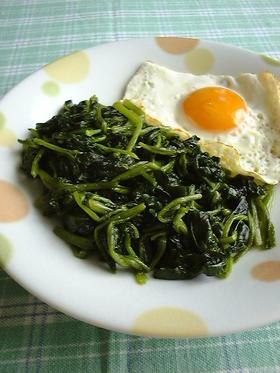 初めての調理実習✿ほうれん草のソテー✿