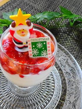 簡単ヨーグルトアート♡クリスマスデザート