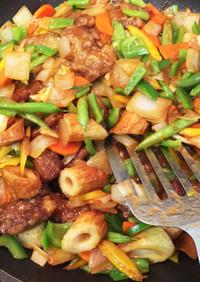 忙しい時期、黒酢と野菜たっぷり酢豚