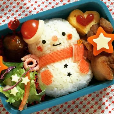 キャラ弁☆クリスマス☆スノーマン弁当