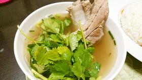 和風アレンジのバクテー風スープ。