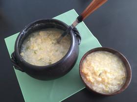 生姜とネギたっぷり中華粥
