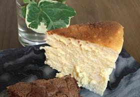 糖質制限♪爽やかで濃厚チーズスフレケーキ