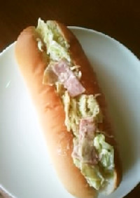 簡単「キャベツとポテチのサンドイッチ」